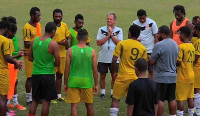 La selección de futbol de Tahití se prepara para su duelo de las eliminatorias Rusia 2018 contra Papúa Nueva Guinea.