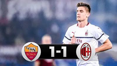 Roma vs Milan 1-1 Football Highlights and Goals 2019