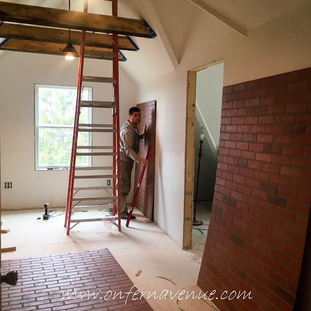 Red Brick Panels from Home Depot