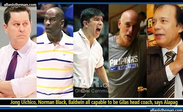 Jong Uichico, Norman Black, Baldwin all capable to be Gilas head coach, says Alapag