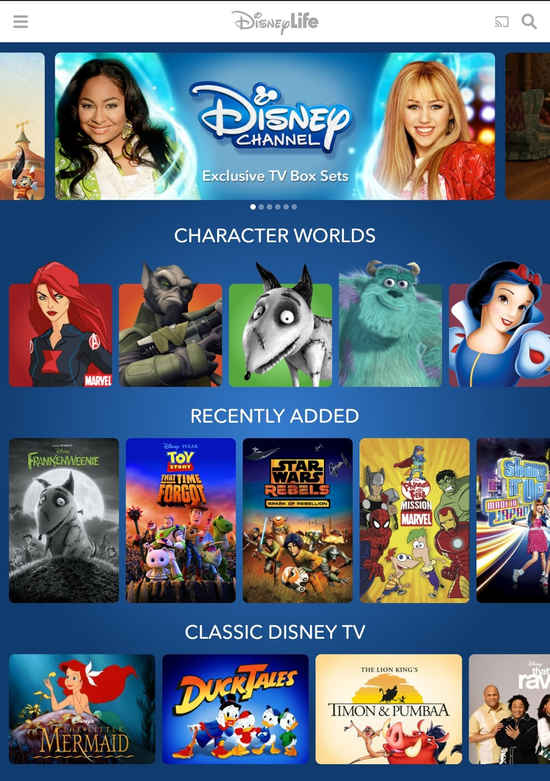 Image result for disneylife interface