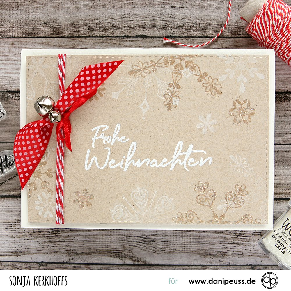 Weihnachtskarten Neutral.Sonjak The Art Of Stamping Zwei Weihnachtskarten Two Christmas