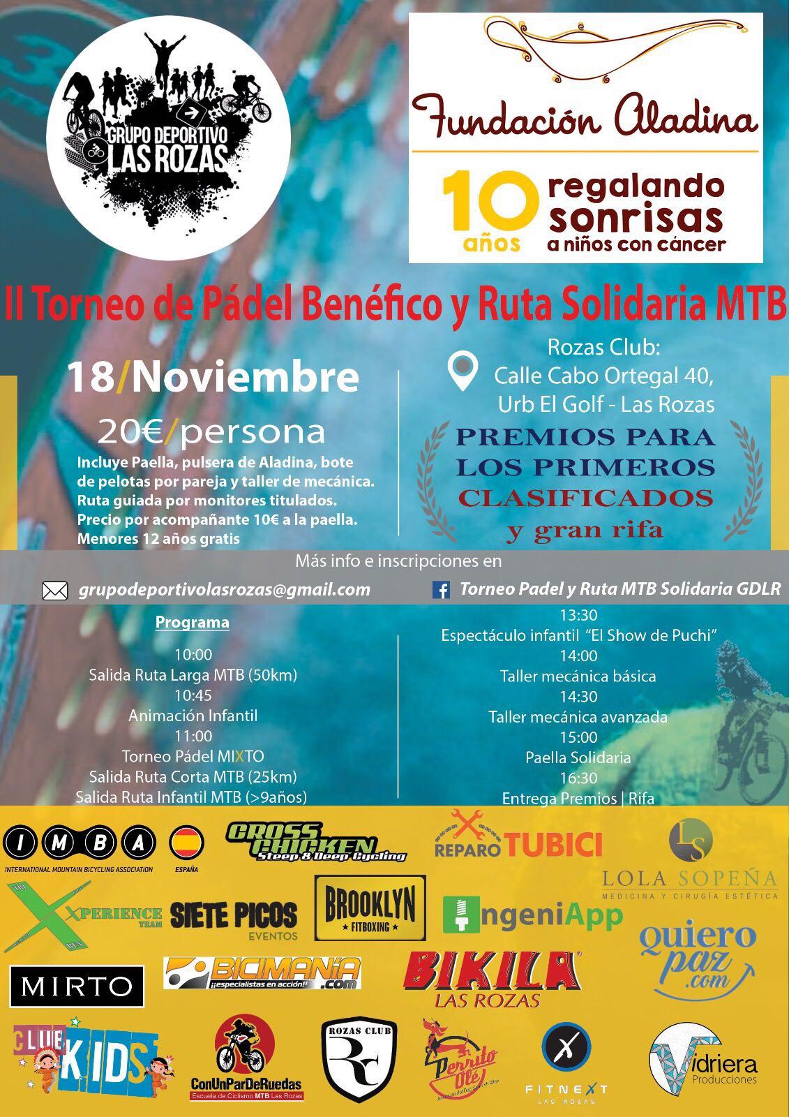 II Torneo Padel y Ruta MTB Solidaria Grupo Deportivo Las Rozas