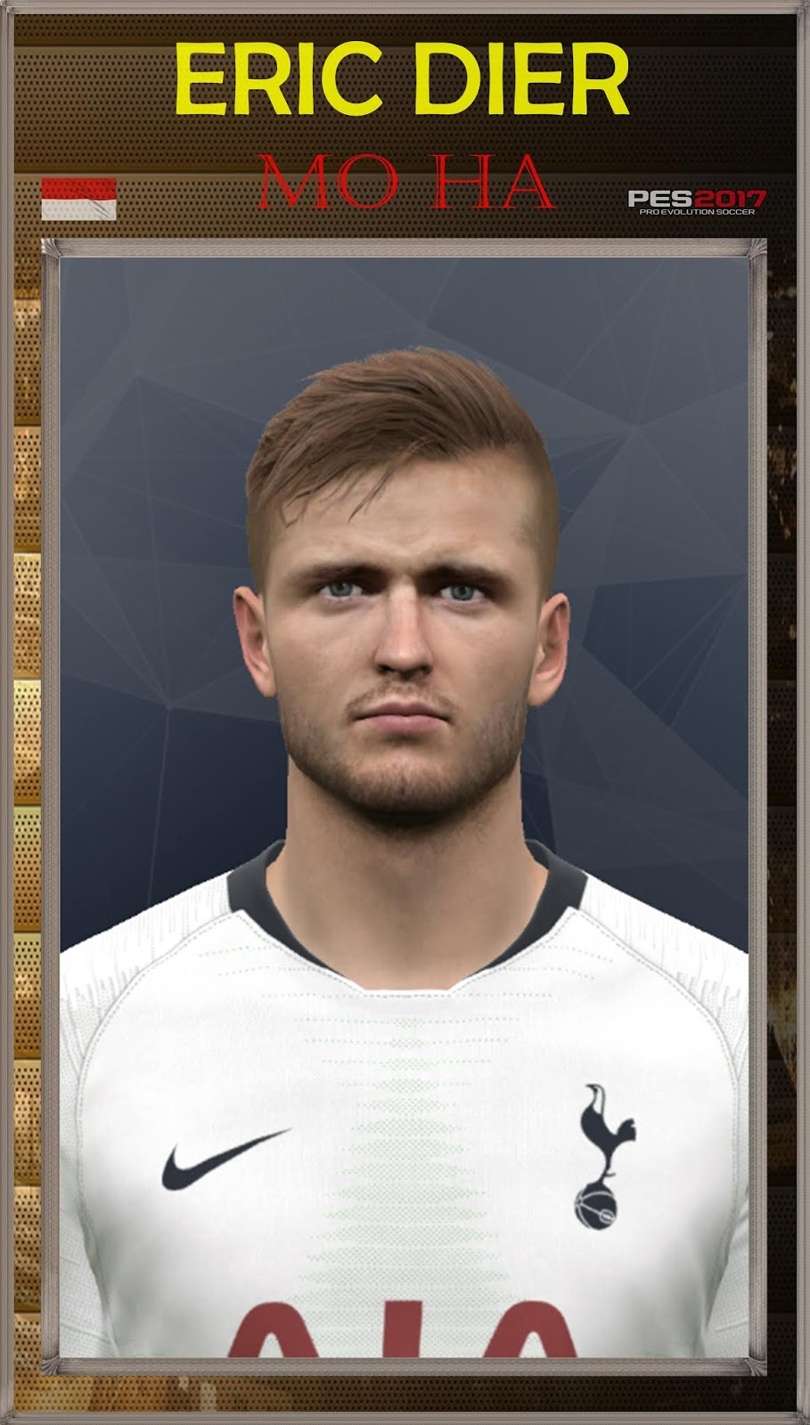 Pes 2017 Eric Dier face by Mo Ha