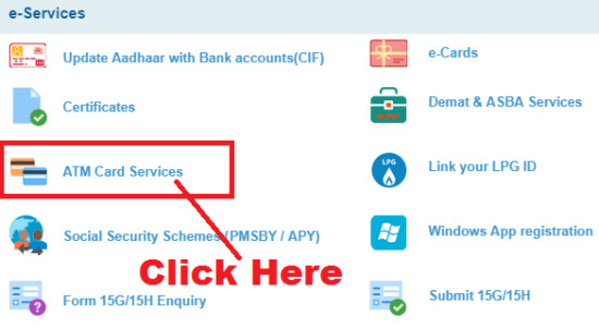 how to apply for sbi emv chip debit card online