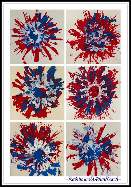 Kindergarten Process Art as Fireworks