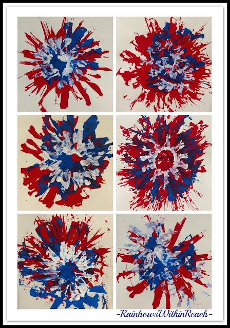 Kindergarten Process Art as Fireworks