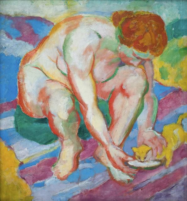 Franz Marc: Nudo femminile con gatto