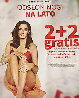 rossmann promocja czerwiec 2018 depilacja stopy 2 plus 2 gratis