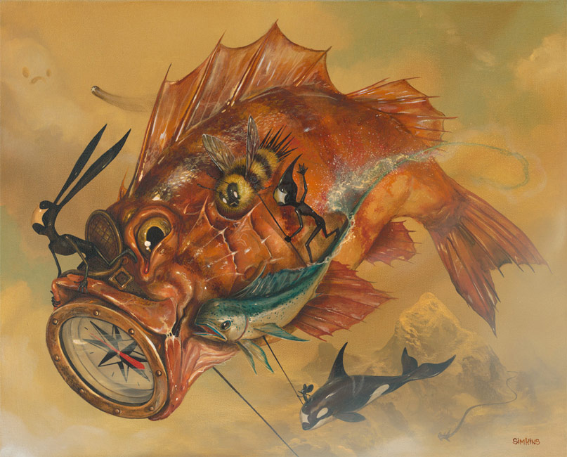 15-Carpe-Diem-Greg-Craola-Simkins-Fantastical-Surreal-Paintings-Full-of-Details