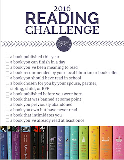 My 2016 Reading Challenge Picks