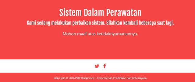 Perawatan sistem PMP Dikdasmen Kementrian Pendidikan dan Kebudayaan