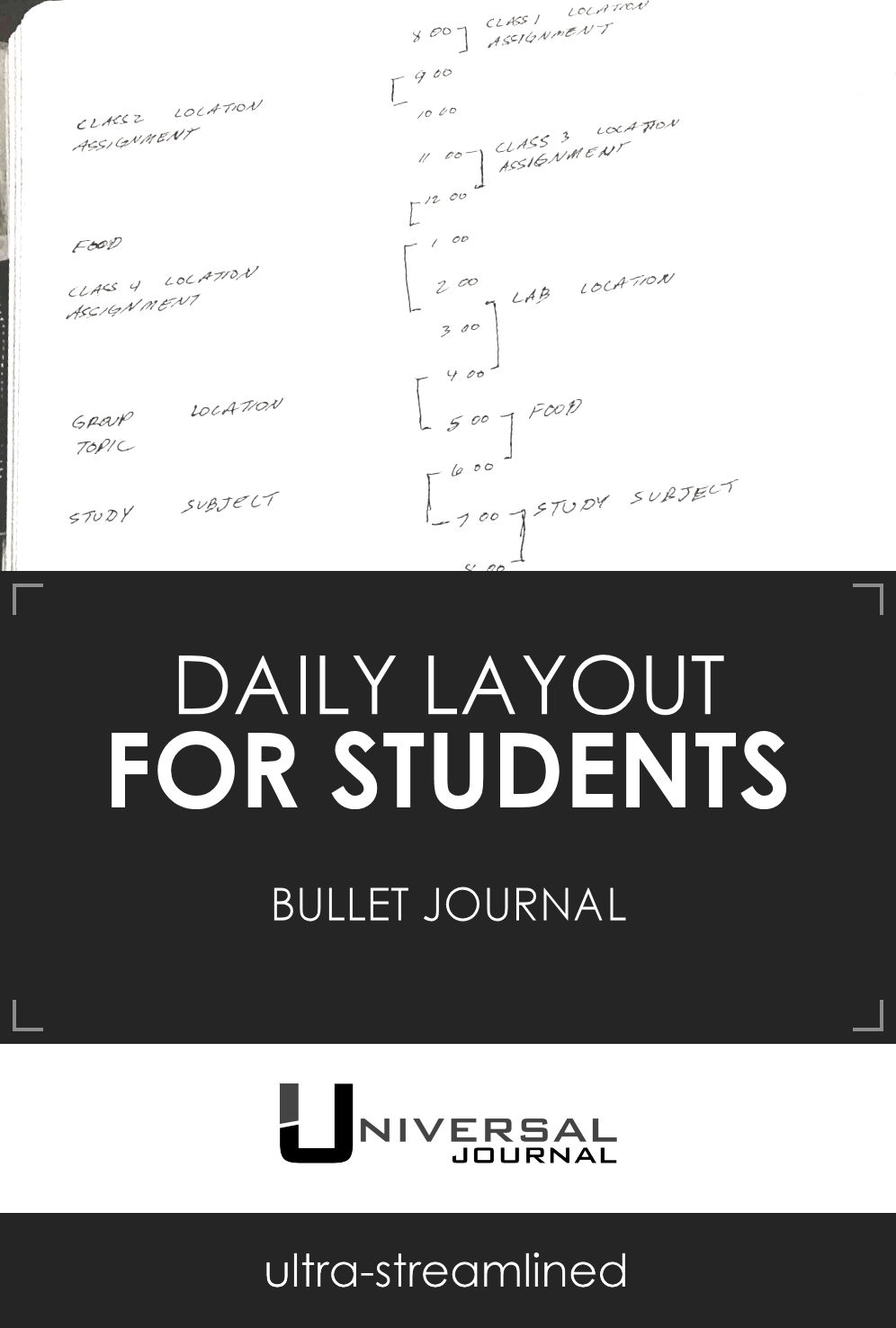 bullet journal daily layout students education