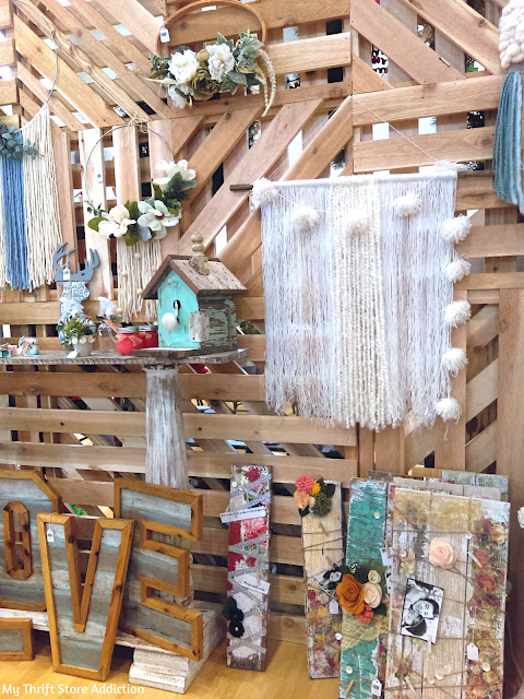 Shop local macrame and floral hoop wreath
