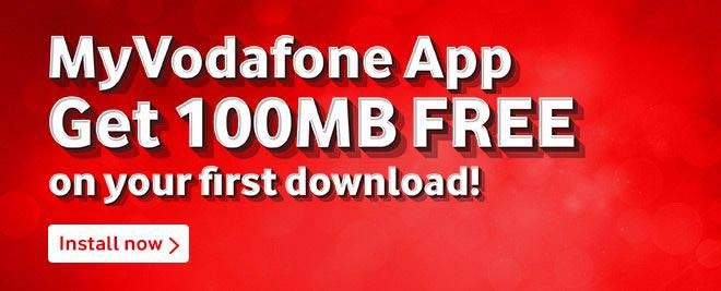 my vodafone app with 100mb free