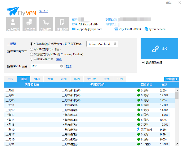 中國上海電信VPN