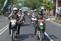 Polres Bojonegoro Laksanakan Patroli Skala Besar, untuk mewujudkan ketenangan dan kenyamanan Warga.