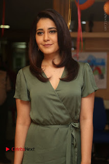 Actress Raashi Khanna Stills in Green Short Dress at Mirchi 95 Suno Aur Mercedes Jeeto Contest  0001.JPG