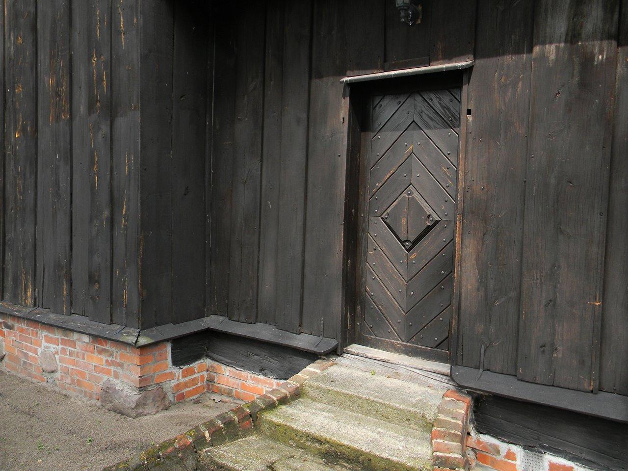 drzwi, schody, drewniana budowla