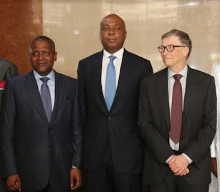 Business: Saraki meets Bill Gates, Dangote