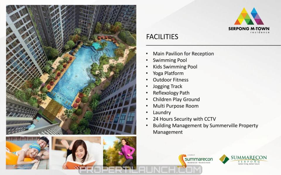 Fasilitas Serpong M-Town Residence