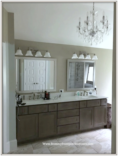 Master Bathroom Makeover-Builder Grade Finishes-From My Front Porch To Yours