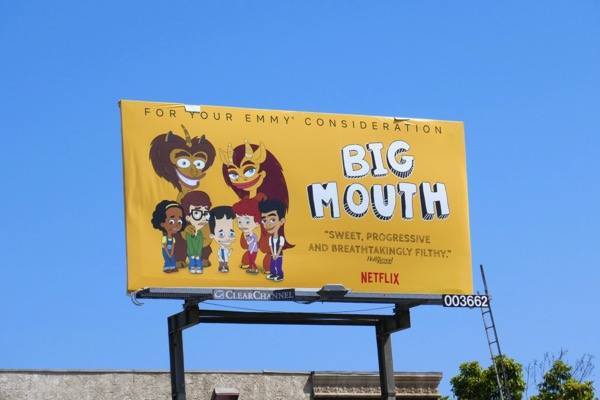 Big Mouth 2018 Emmy consideration billboard