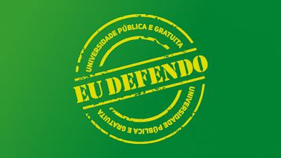 Marca da campanha pela defesa do ensino gratuito