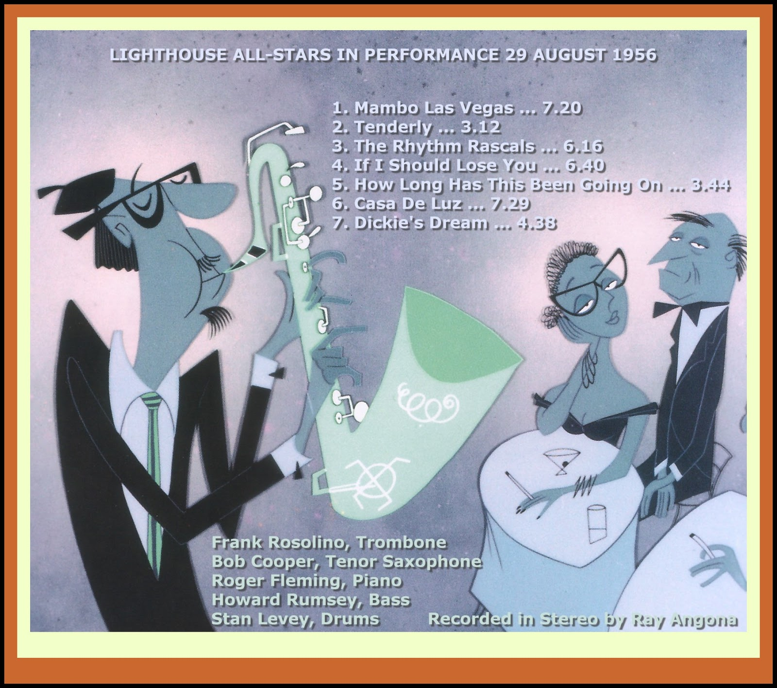 Jazz Profiles The Lighthouse All Stars In Performance 29 August 1956