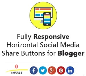 Add Custom Social Media Share Buttons to Blogger Below Post Title and Post Footer