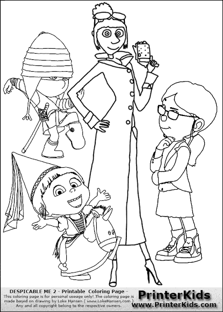 Ba da web meu malvado favorito desenhos para colorir for Immagini cattivissimo me da colorare