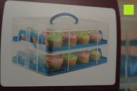 Beispiel Bild: Andrew James – Verstellbarer Kuchentransportbehälter 2 Etagen – Hält Bis Zu Zwei Große Kuchen Oder 24 Cupcakes – Mit 2 Cupcake-Einsätzen – 2 Jahre Garantie