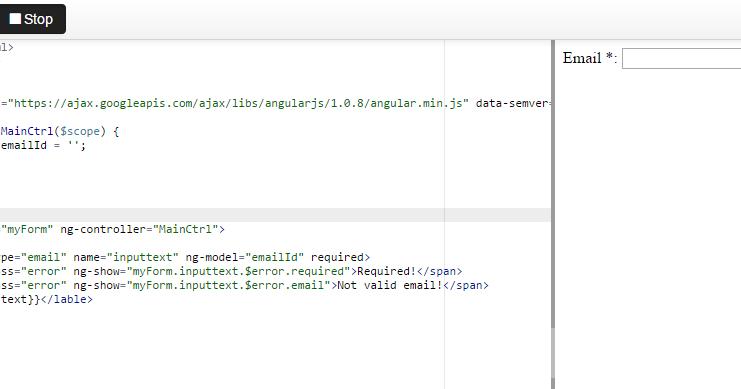 email, number ng-pattern validation in angularjs - Angular