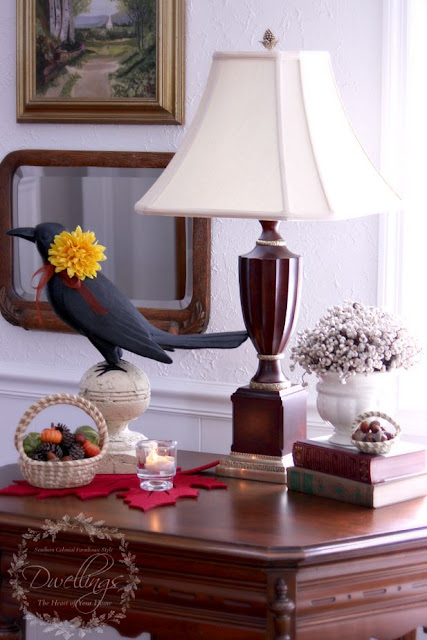 Fall in the great room ... Fall Home Tour 2015 ~ DWELLINGS - The Heart of Your Home