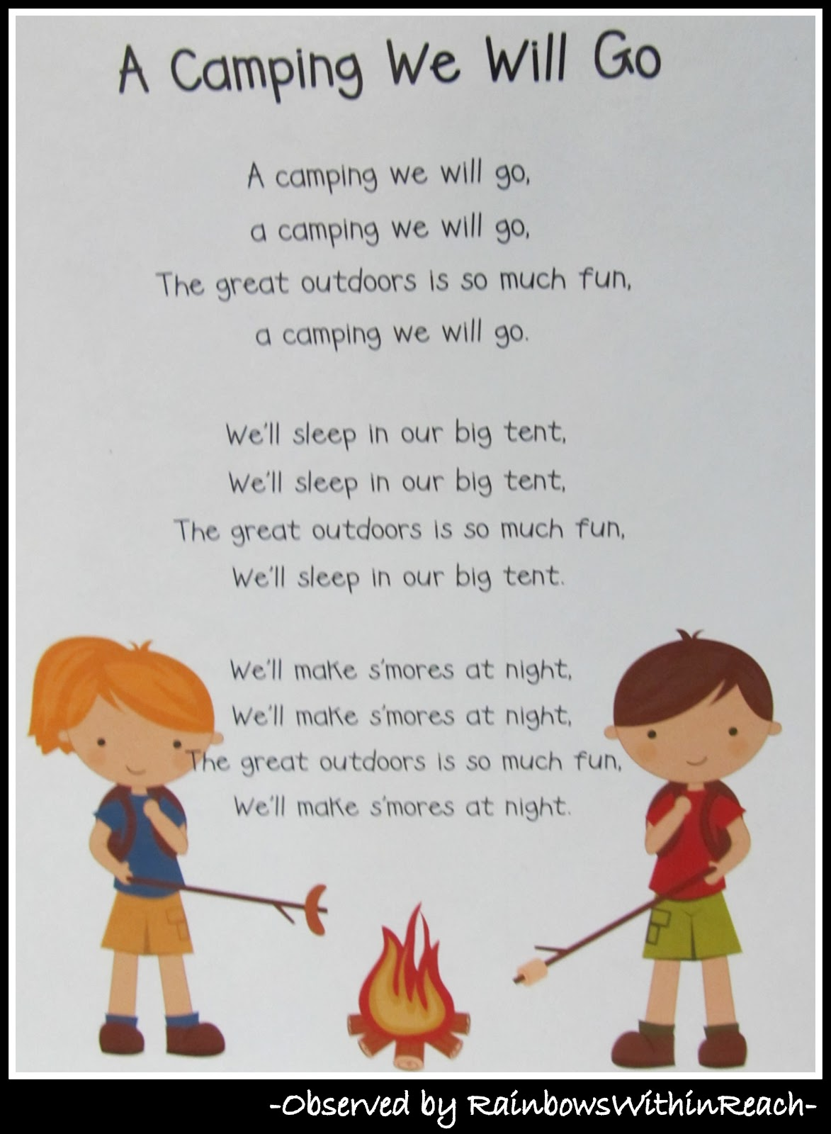 Camping Campout At Preschool Drseussprojects