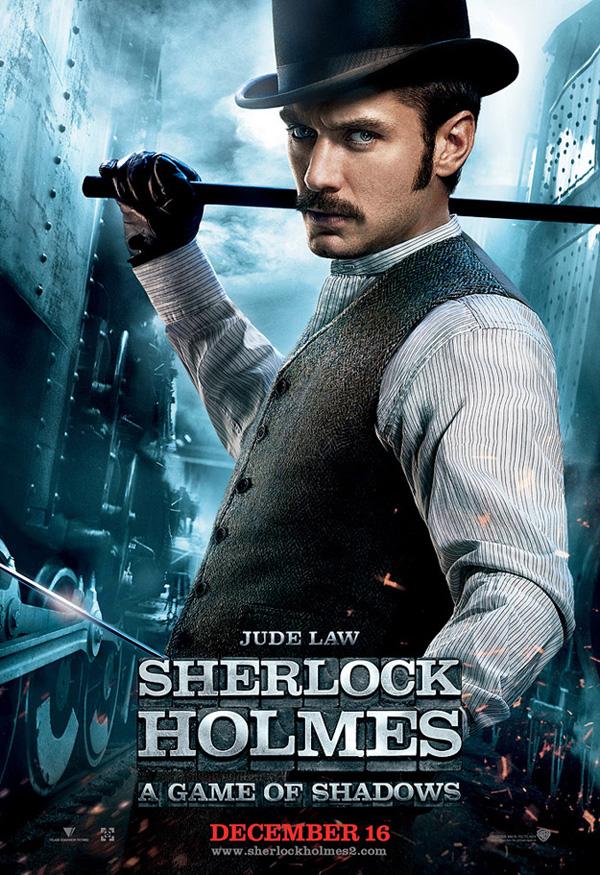 Jude Law en Sherlock Holmes juego de Sombras