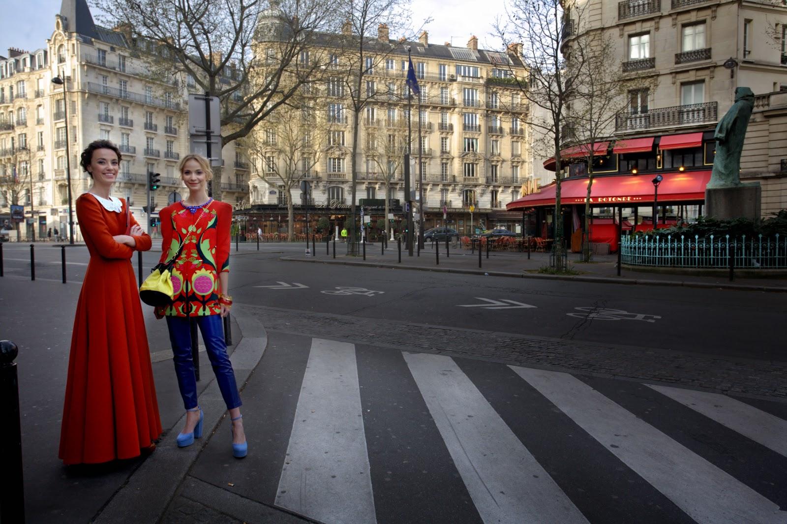 Fashion shoot models, Rue Raspail.