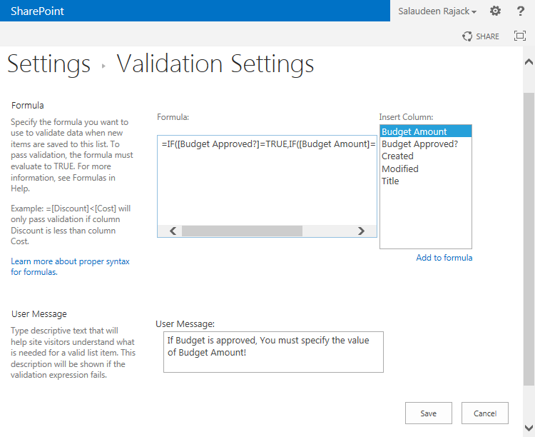 sharepoint 2013 required field validation