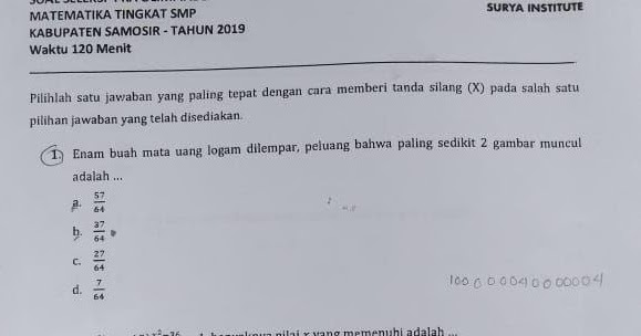 Soal un smp 2018 matematika dan pembahasannya page 4 of 9 f math. Soal Dan Pembahasan Pra Ksn K Matematika Smp 2020 Simulasi Ksn K Matematika Smp Tahun 2021 Defantri Com