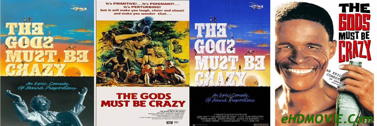 The Gods Must Be Crazy 1980 Full Movie English 720p - 480p ORG BRRip 400MB - 900MB ESubs Free Download