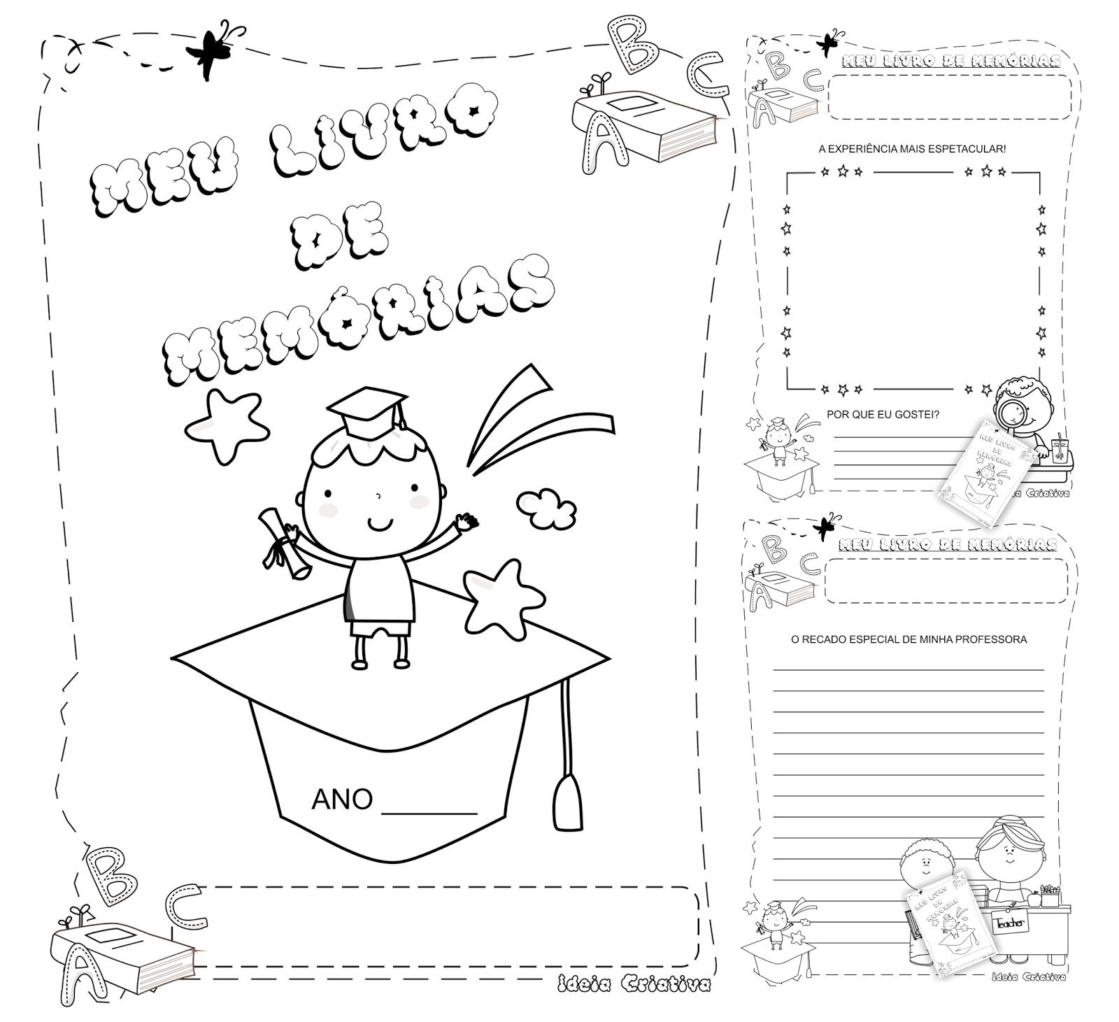 Caderno de Atividades Meu Livro de Memórias Jardim de Infância