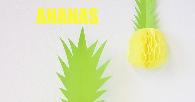 villa stoff diy ananas wabenball basteln. Black Bedroom Furniture Sets. Home Design Ideas