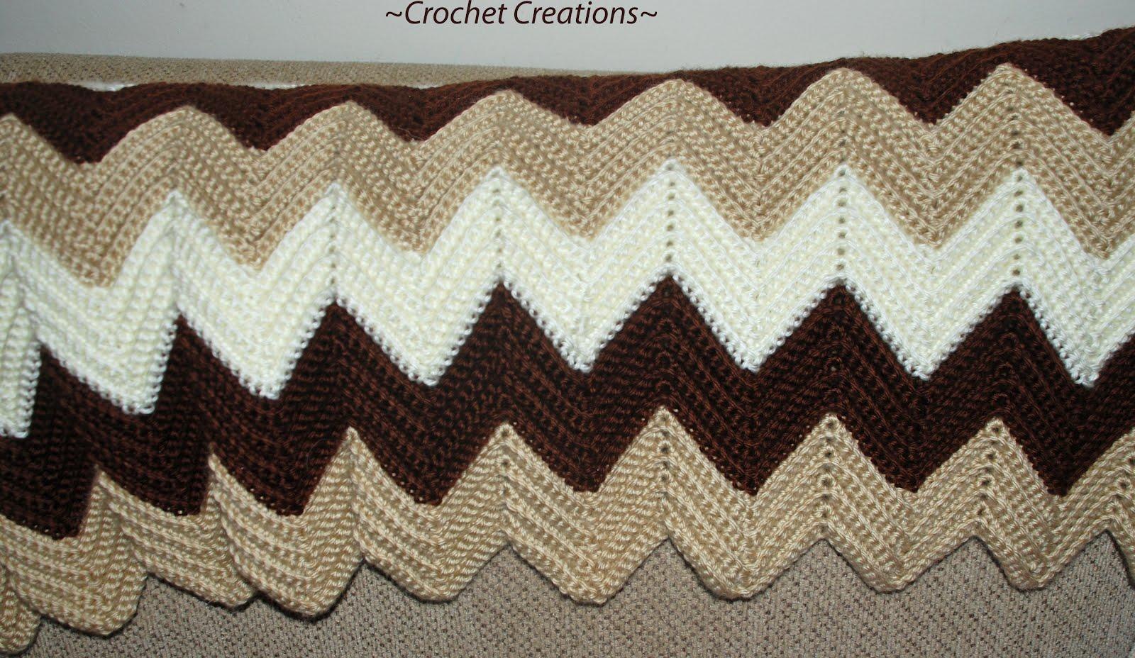 Free Crocheted Ripple Afghan Pattern Crochet Tutorials
