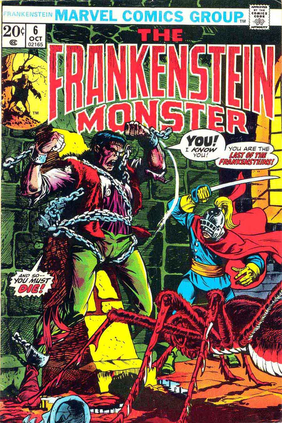 Frankenstein v2 #6 marvel comic book cover art by Mike Ploog