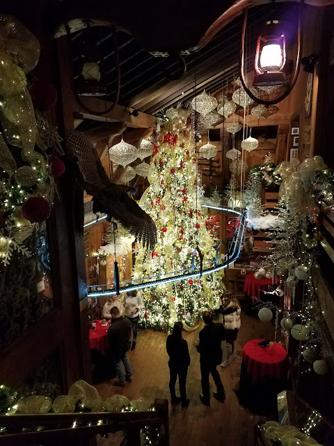 The Angus Barn is beautifully decorated during the Holiday Season