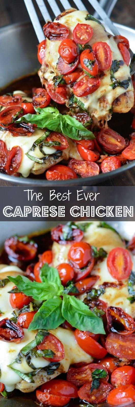 The Best Ever Caprese Chicken