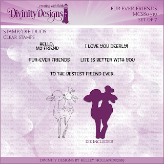 Divinity Designs LLC Fur-Ever Friends Stamp/Die Duos