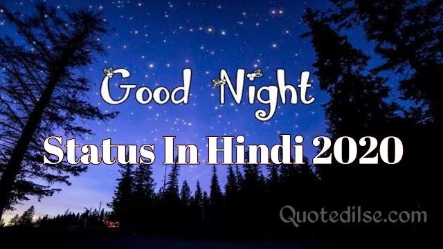 Good Night Status In Hindi 2020