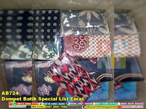 jual Dompet Batik Special List Emas