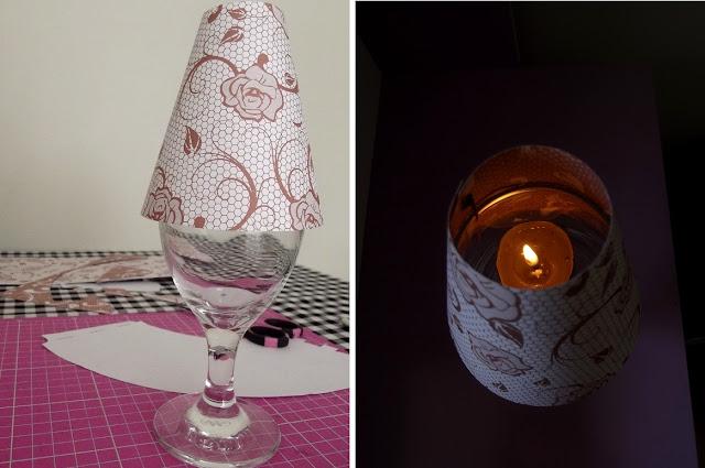 Abajur vela e agua